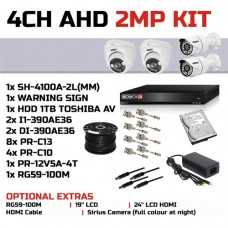 Provision-ISR 4 Channel 2MP AHD CCTV Kit (Brand: Provision ISR)
