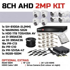 Provision-ISR 8 Channel 2MP AHD KIT