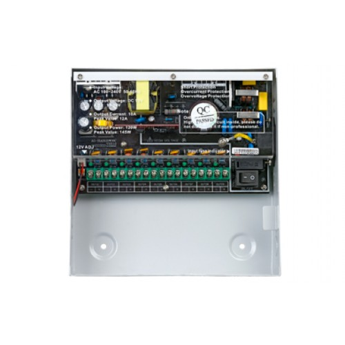 Provision-ISR 9 CH 10Amp 12VDC Power Supply + Battery Back-up (Brand:  Provision ISR)