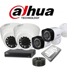 Dahua 4 Channel 720P 1MP Camera Kit